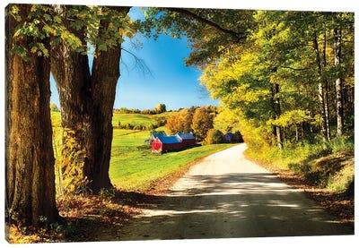Vermont Farm Along A Country Road Canvas Art Print