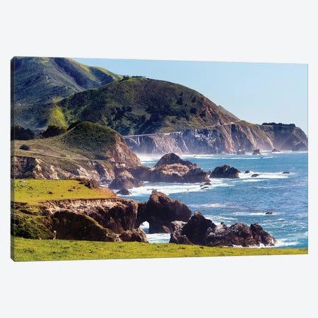 Route 1 Coastal Highway At Rocky Creek, Big Sur, California Canvas Print #GOZ367} by George Oze Art Print