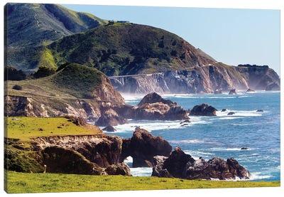 Route 1 Coastal Highway At Rocky Creek, Big Sur, California Canvas Art Print