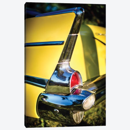Classic Chevrolet Automobile Tail Fin Canvas Print #GOZ36} by George Oze Art Print