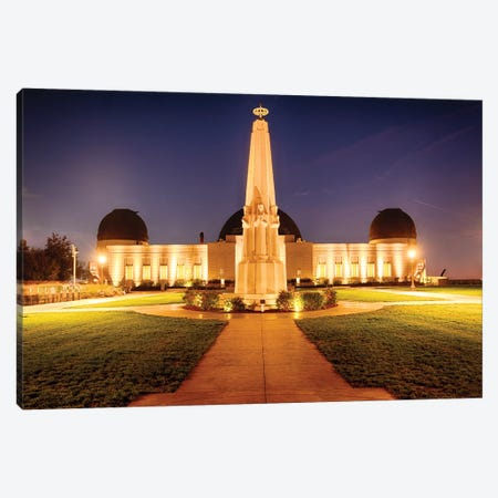 Griffith Observatory At Night, Los Angeles, California Canvas Print #GOZ378} by George Oze Art Print