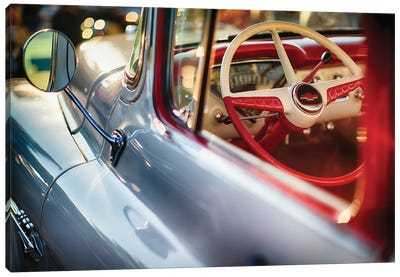 Classic Chevrolet Pick Up Truck Steering Wheel View Canvas Art Print