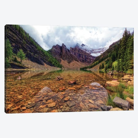 Tranquil View Of Lake Agnes, Banff National Park, Alberta, Canada. Canvas Print #GOZ384} by George Oze Art Print