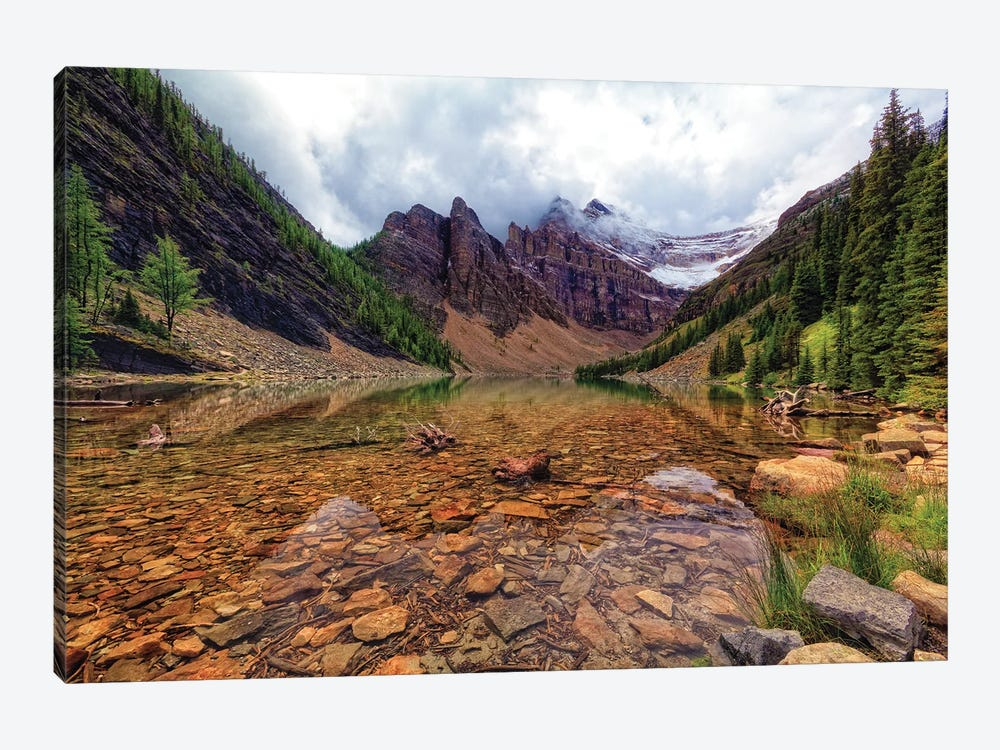 Tranquil View Of Lake Agnes, Banff National Park, Alberta, Canada. by George Oze 1-piece Canvas Print