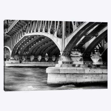 Old Bridge Structure Over The Saone River, Lyon, Framce Canvas Print #GOZ386} by George Oze Canvas Print