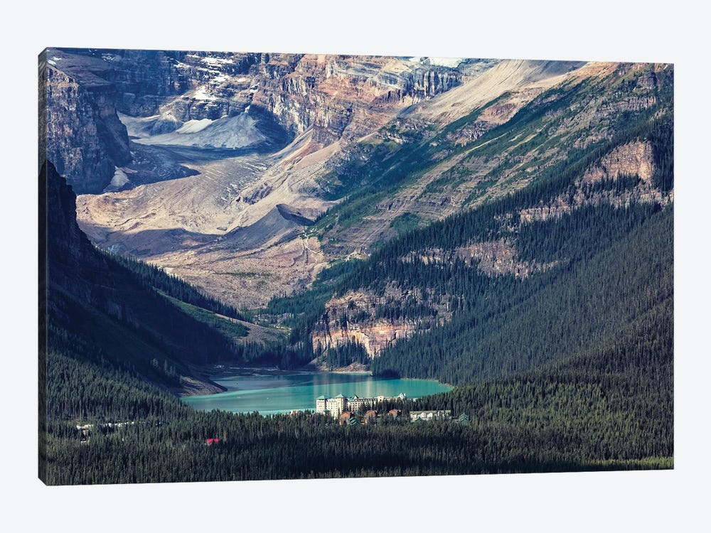 View Of The Chateau Lake Louise, Alberta, Canada by George Oze 1-piece Canvas Art
