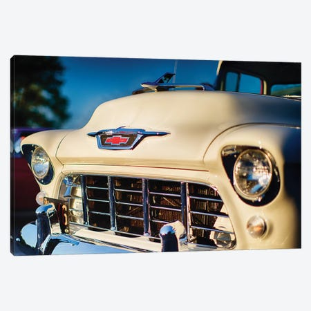 Classic Chevy Pick Up Truck Front View Canvas Print #GOZ38} by George Oze Canvas Artwork