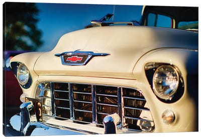 Classic Chevy Pick Up Truck Front View Canvas Art Print