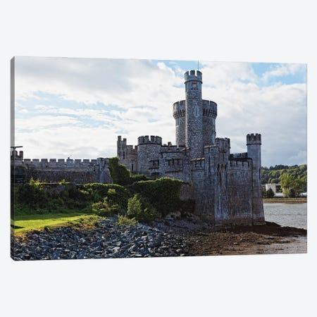 Castle On The River, Blackrock Castle, River Lee, City Cork, Republic Of Ireland Canvas Print #GOZ397} by George Oze Canvas Artwork