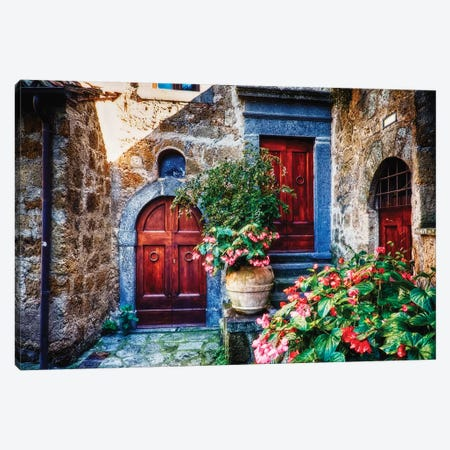 Classic House Entrance in Umbria, Italy Canvas Print #GOZ39} by George Oze Canvas Art