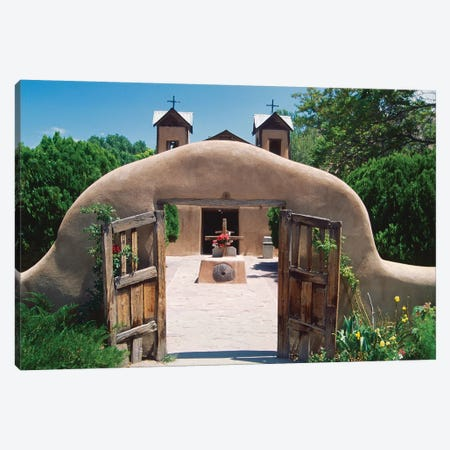 Adobe Gates, El Santuario De Chimayo, New Mexico Canvas Print #GOZ3} by George Oze Canvas Artwork
