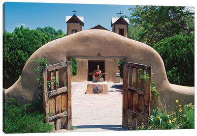 Adobe Gates, El Santuario De Chimayo, New Mexico Canvas Art Print