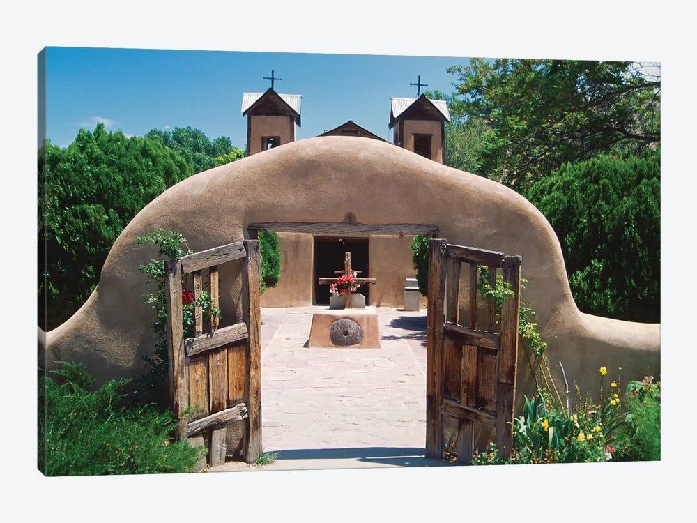 Adobe Gates, El Santuario De Chimayo, New Mexico by George Oze 1-piece Canvas Artwork