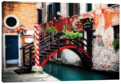 Little Bridge In Rialto, Venice, Veneto, Italy Canvas Art Print