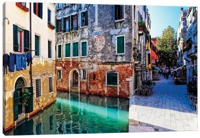 Morning Light In Venice, Calle Del Spezier, Santa Croce, Venice, Italy Canvas Art Print