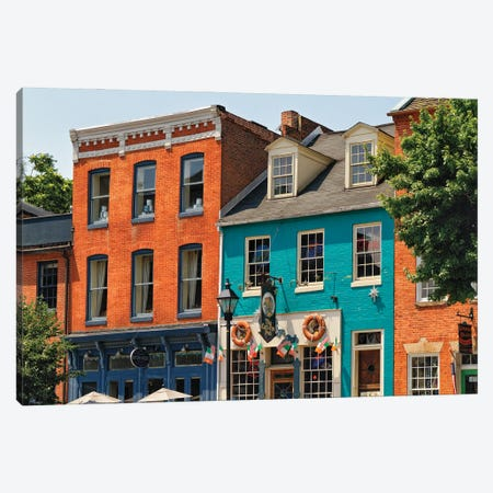 Fell's Point Pubs, Baltimore, Maryland Canvas Print #GOZ406} by George Oze Canvas Art
