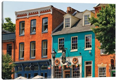 Fell's Point Pubs, Baltimore, Maryland Canvas Art Print