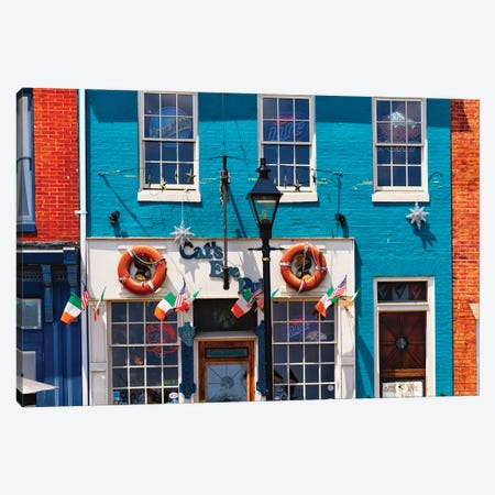 Colorful Pub Front At Fell's Point , Baltimore, Maryland Canvas Print #GOZ407} by George Oze Canvas Art