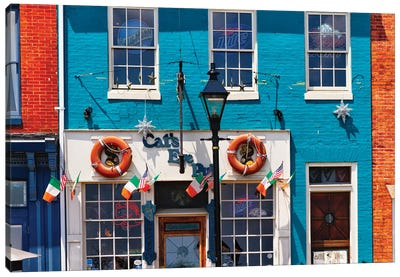 Colorful Pub Front At Fell's Point , Baltimore, Maryland Canvas Art Print