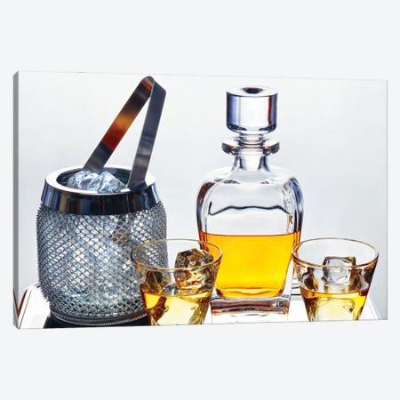 Classic Whiskey Serving Canvas Print #GOZ416} by George Oze Canvas Art Print