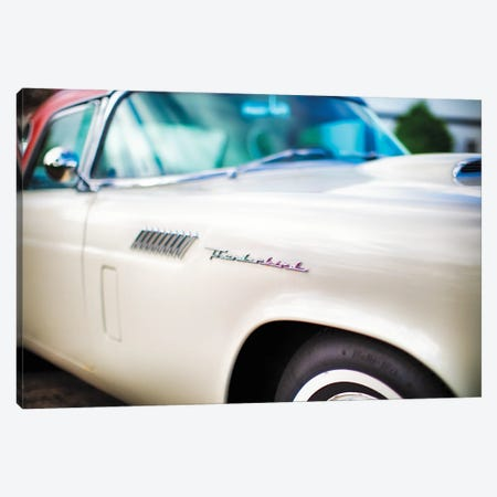Fender with Scripts of a Classic Ford Thunderbird Automobile Canvas Print #GOZ418} by George Oze Canvas Wall Art