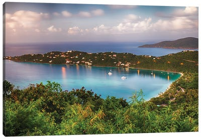 Magens Bay After Sunset Panoram, St Thomas Canvas Art Print