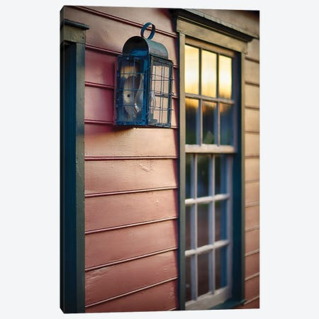 Sunset Reflections On The Window Of An Old Colonial Era House, New Jersey, Usa Canvas Print #GOZ423} by George Oze Canvas Print