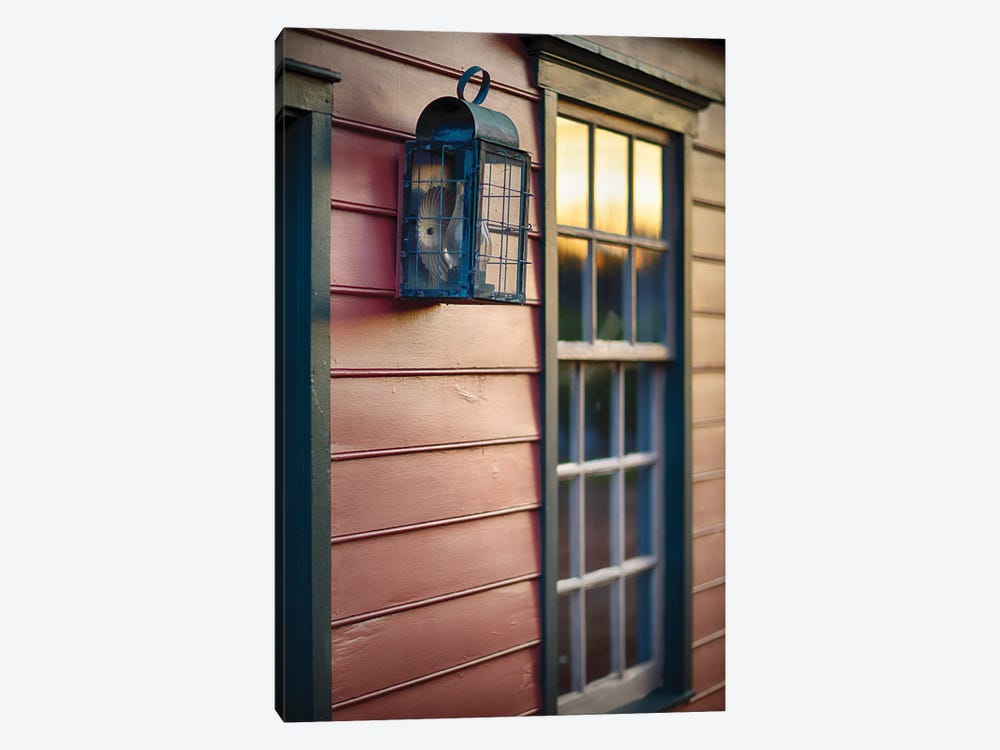 Sunset Reflections On The Window Of An Old Colonial Era House, New Jersey, Usa by George Oze 1-piece Canvas Art Print