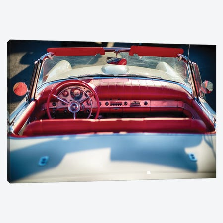 Cllassic Ford Thunderbird Top Down Canvas Print #GOZ42} by George Oze Art Print