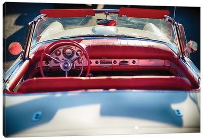 Cllassic Ford Thunderbird Top Down Canvas Art Print