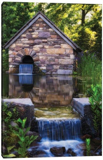 Old Farm Milk House With A Pond, New Hope, Pennsylvania Canvas Art Print
