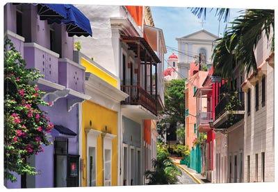 Colorful Streets Of Old San Juan, Puerto Rico Canvas Art Print