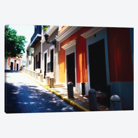 Calle De Sol, Old San Juan, Puerto Rico Canvas Print #GOZ448} by George Oze Art Print