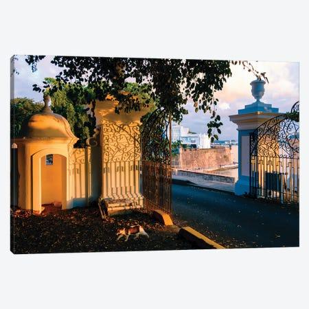 Gates To La Fortaleza, Old San Juan, Puerto Rico Canvas Print #GOZ449} by George Oze Art Print