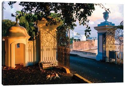 Gates To La Fortaleza, Old San Juan, Puerto Rico Canvas Art Print