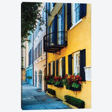 Rainbow Row Iv, Charleston Canvas Print #GOZ453} by George Oze Canvas Art