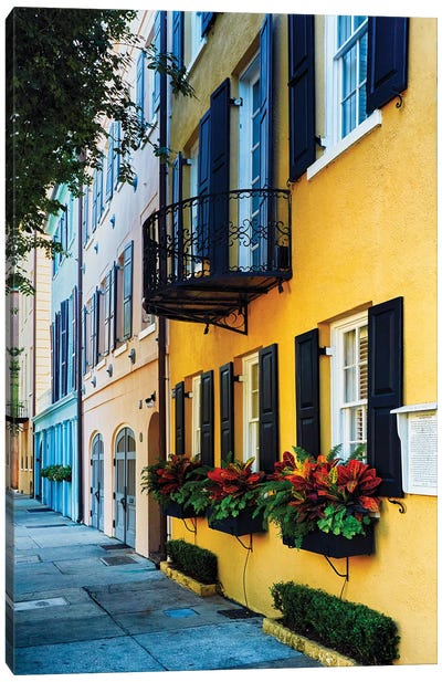 Rainbow Row Iv, Charleston Canvas Art Print