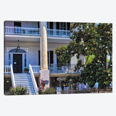 Southern Style House Beaufort, South Carolina Canvas Print #GOZ454} by George Oze Art Print