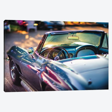 Classic Corvette Ready For A Cruise Canvas Print #GOZ455} by George Oze Art Print