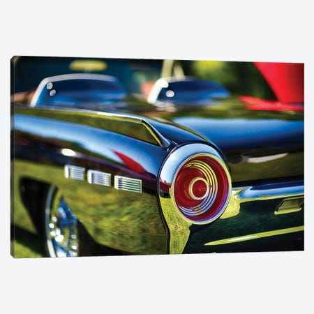 Tail Light Detail Of A 1962 Ford Thunderbird Canvas Print #GOZ456} by George Oze Canvas Print
