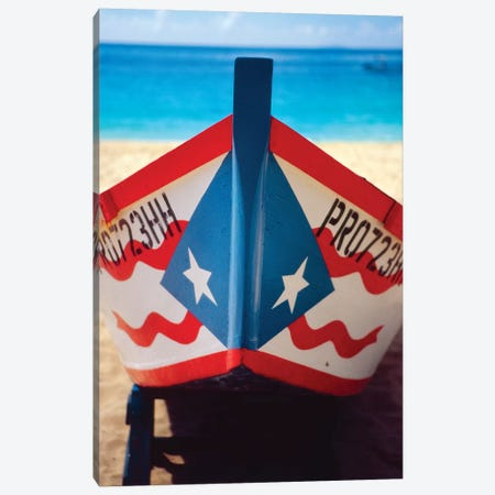 Close Up View of a Puerto Rican Fishing Boat Canvas Print #GOZ45} by George Oze Canvas Artwork