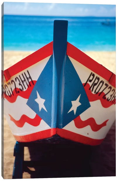 Close Up View of a Puerto Rican Fishing Boat Canvas Art Print