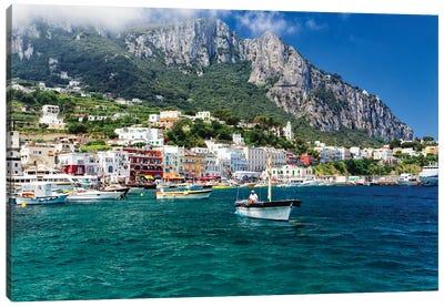 Marina Grande Viewed From The Sea, Capri, Campania, Italy Canvas Art Print