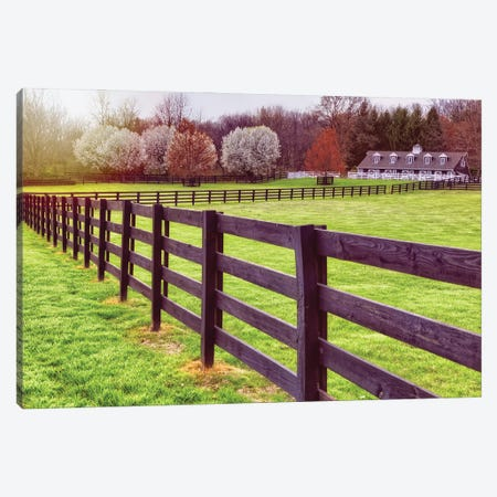 Hunterdon Country Spring Scene With A Stable, Tewksbury, New Jersey Canvas Print #GOZ498} by George Oze Canvas Artwork