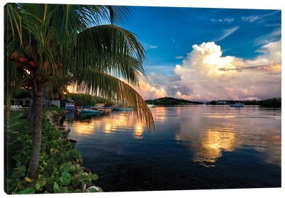 Cloud Reflection in a Bay, La Parguera, Puerto Rico Canvas Art Print