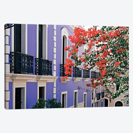 Colorful Balconies of Old San Juan, Puerto Rico 3-Piece Canvas #GOZ55} by George Oze Canvas Art Print