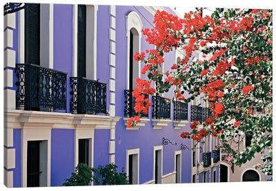 Colorful Balconies of Old San Juan, Puerto Rico Canvas Art Print