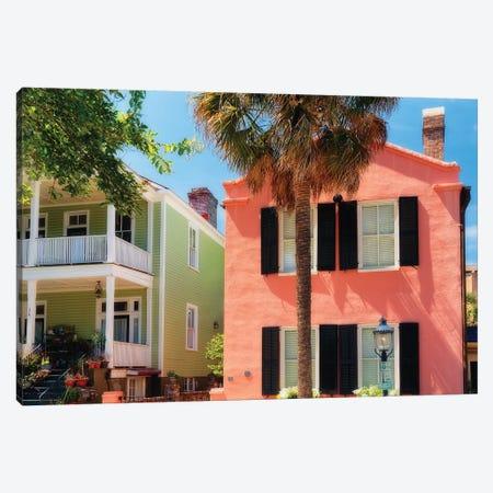 Colorful Houses of Church Street, Charleston, South Carolina Canvas Print #GOZ57} by George Oze Canvas Art Print