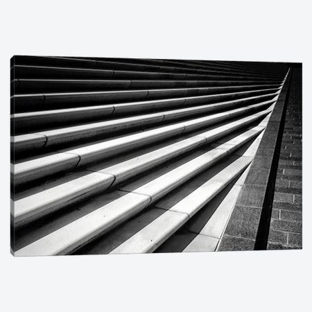Converging Stairs 3-Piece Canvas #GOZ62} by George Oze Art Print
