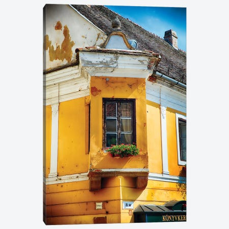 Corner Window with Flowers Canvas Print #GOZ63} by George Oze Canvas Art Print